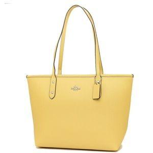 Coach women's tote bag F58846 SVDJ light yellow